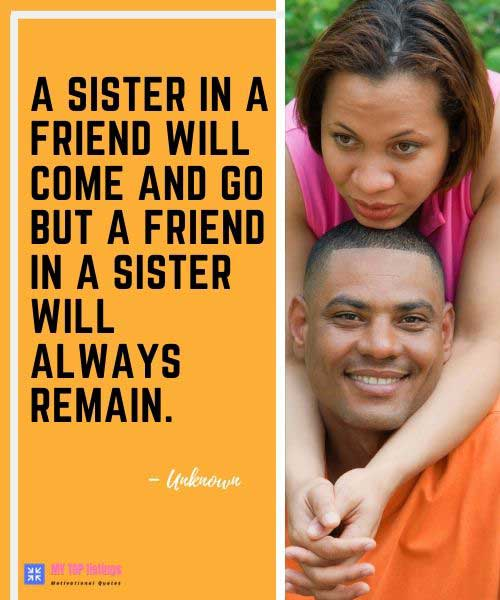 Brother To Sister Quotes