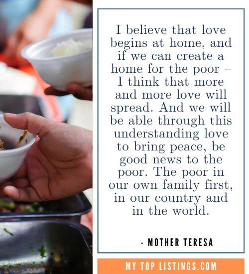 Mother Teresa Quotes about giving
