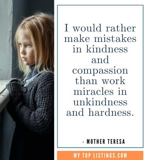 Mother Teresa Quotes giving