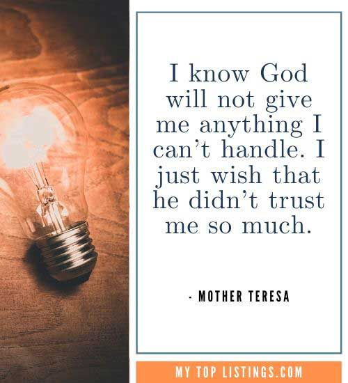 Mother Teresa Quotes we the willing