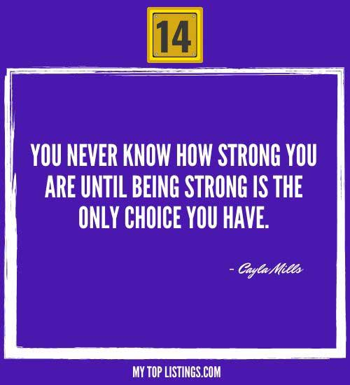 famous quotes about being strong 14