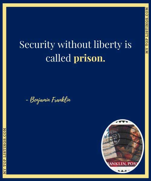 benjamin franklin freedom quote
