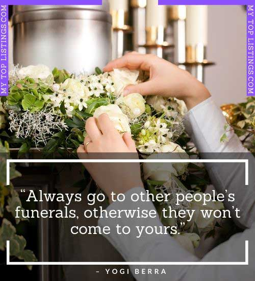 short funny quotes about funeral