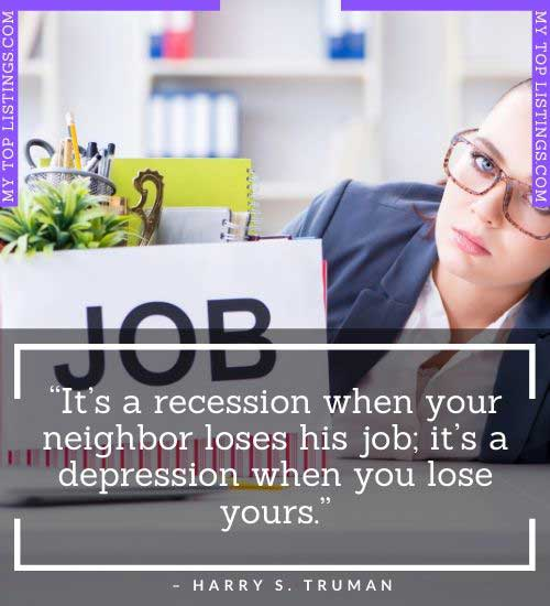 short funny job loss quotes