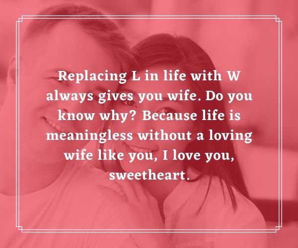 Beautiful Romantic Love Messages for My Wife